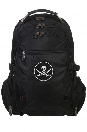 Стильный мужской рюкзак с нашивкой Адамова голова с мечами