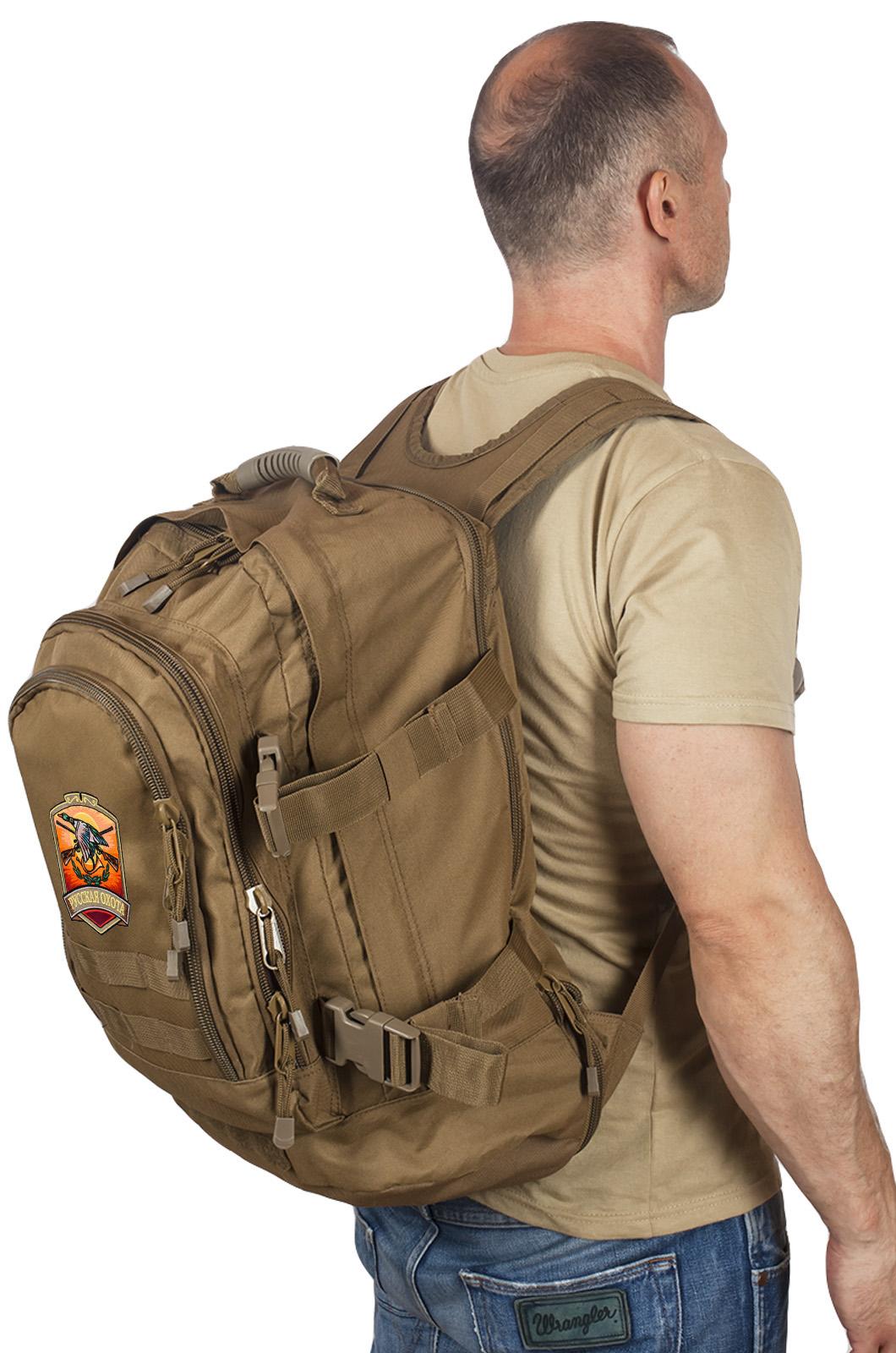 Стильный рюкзак для мужчины с нашивкой Русская Охота - заказать в Военпро