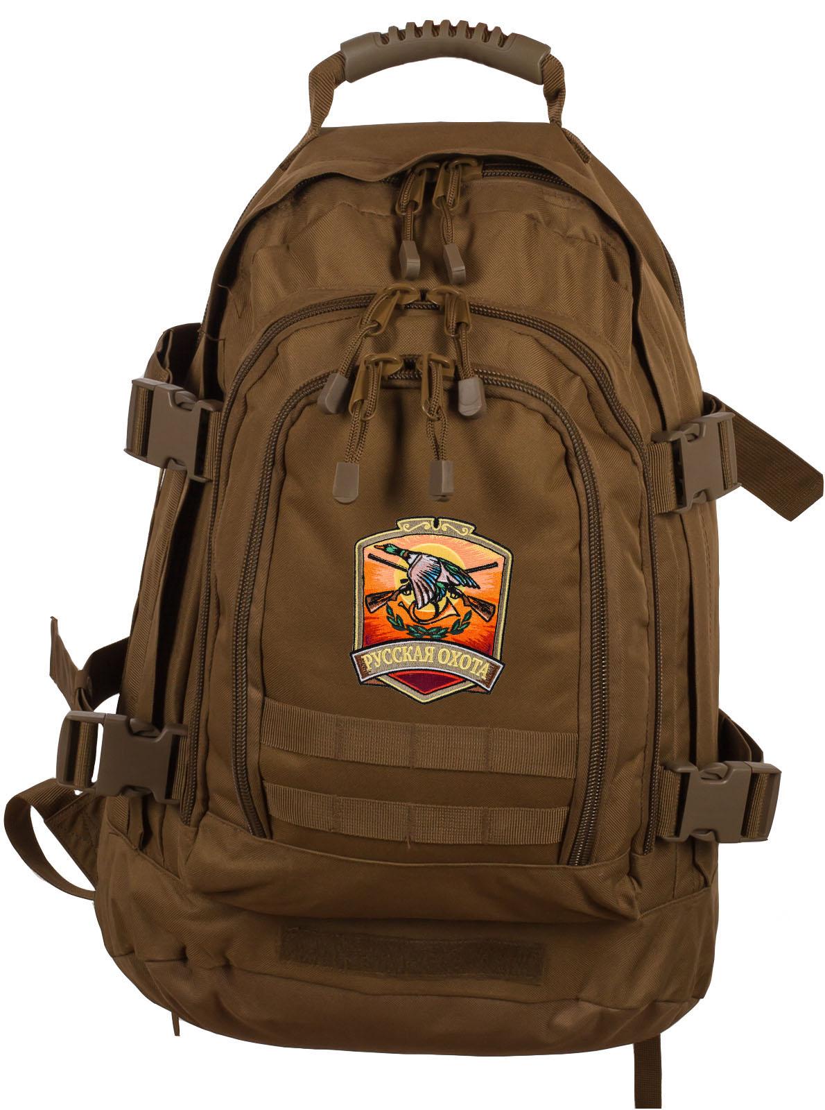 Стильный рюкзак для мужчины с нашивкой Русская Охота - заказать оптом