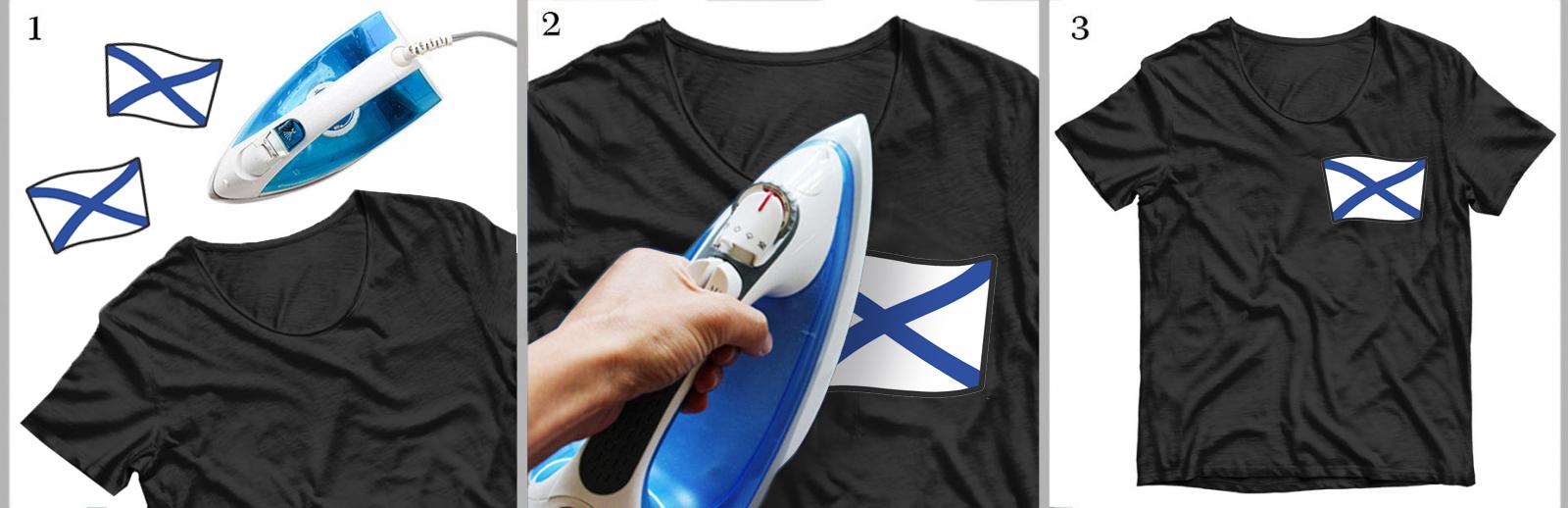 Купить стойкую наклейку-термотрансфер Андреевский Флаг оптом или в розницу