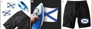 Стойкая наклейка-термотрансфер Андреевский Флаг - купить оптом