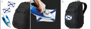 Стойкая наклейка-термотрансфер Андреевский Флаг - купить в Военпро
