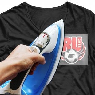 Стойкая наклейка-термотрансфер с футбольным мячом