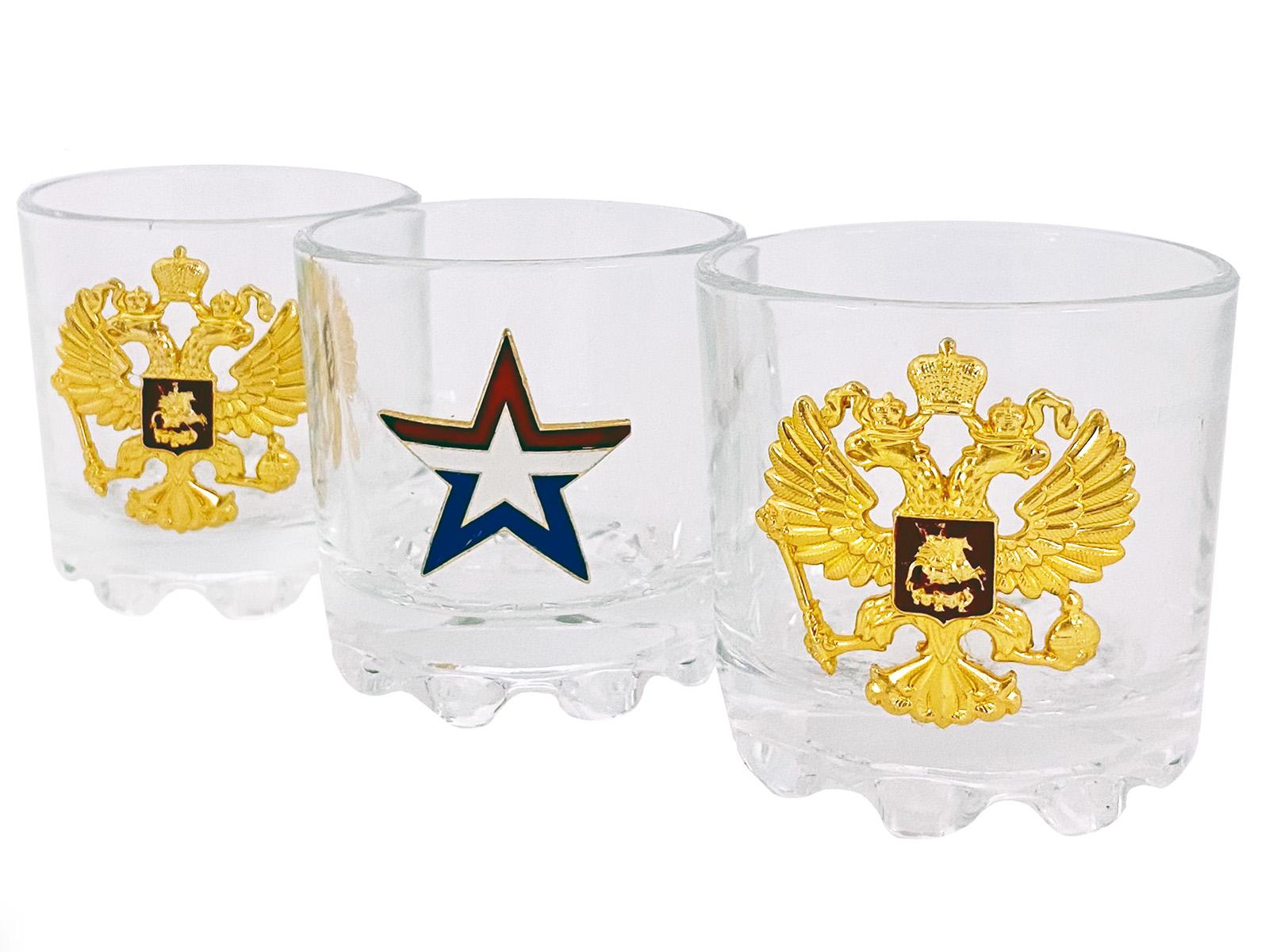 Купить набор стопок на подарок военному мужчине