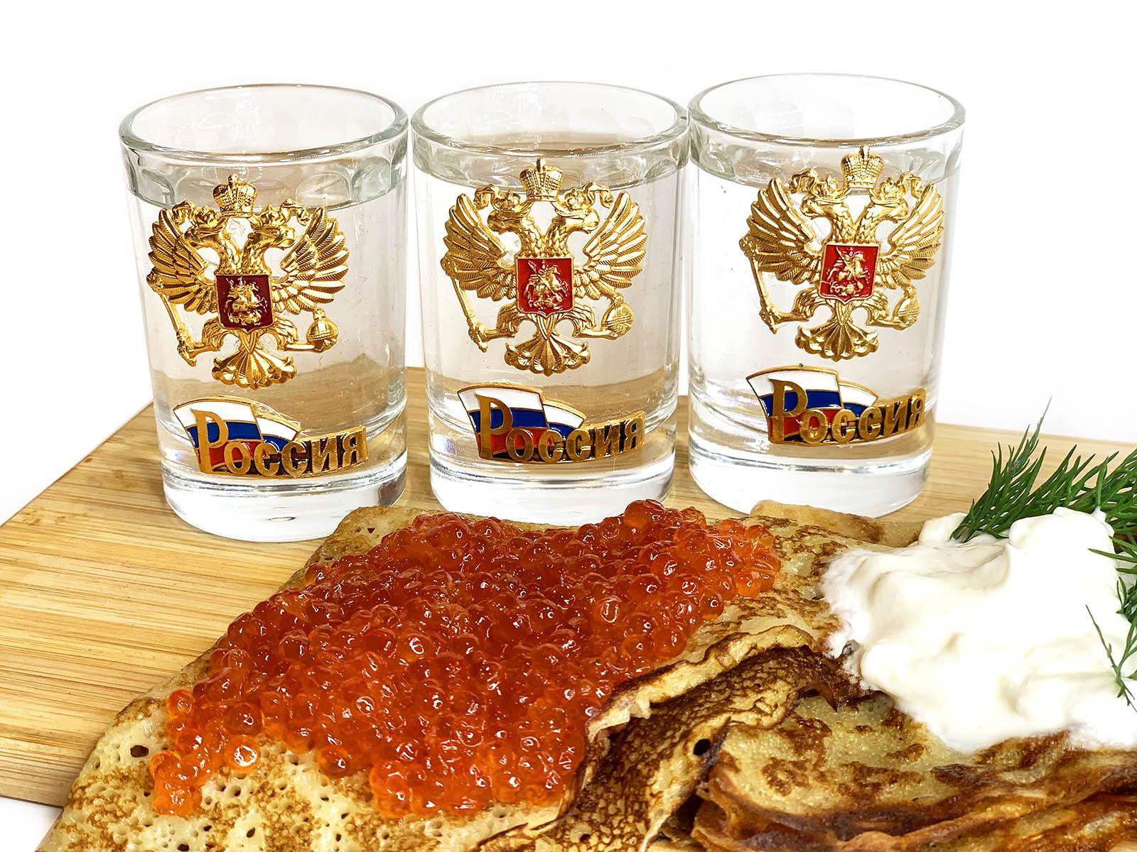 Набор 3 стопки Россия