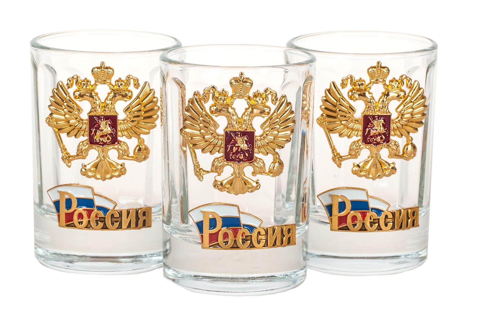 Стопки с гербом России по выгодной цене