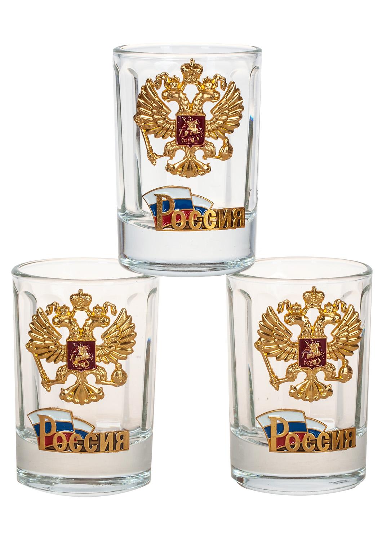 Заказать стопки с гербом России