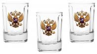Стопки с гербом России