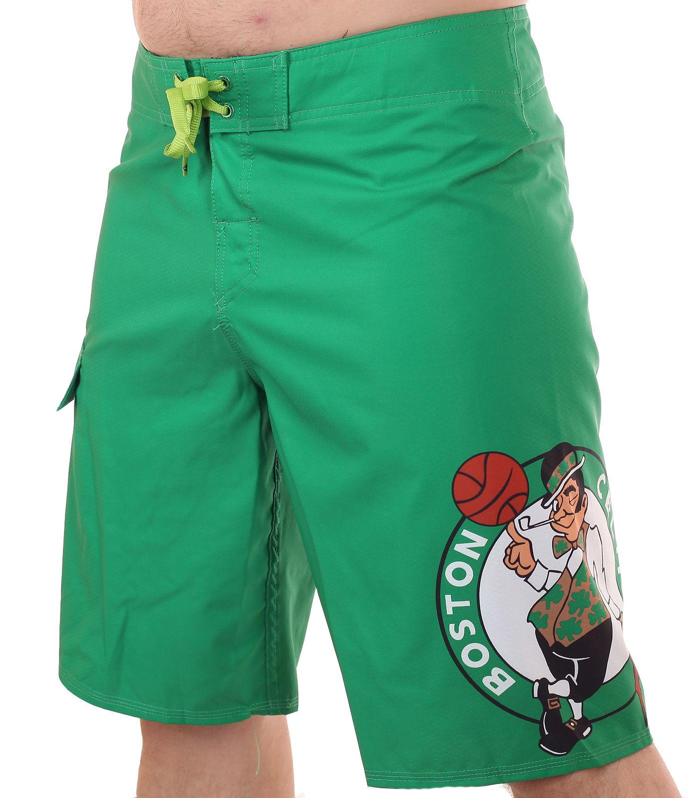 Стрейчевые водоотталкивающие бордшорты с логотипом баскетбольного клуба НБА Boston Celtics