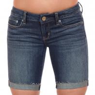 Стрейчевые женские шорты средней длины. Лакшери модель от ТМ American Eagle. Плотная комфортная посадка по бедрам