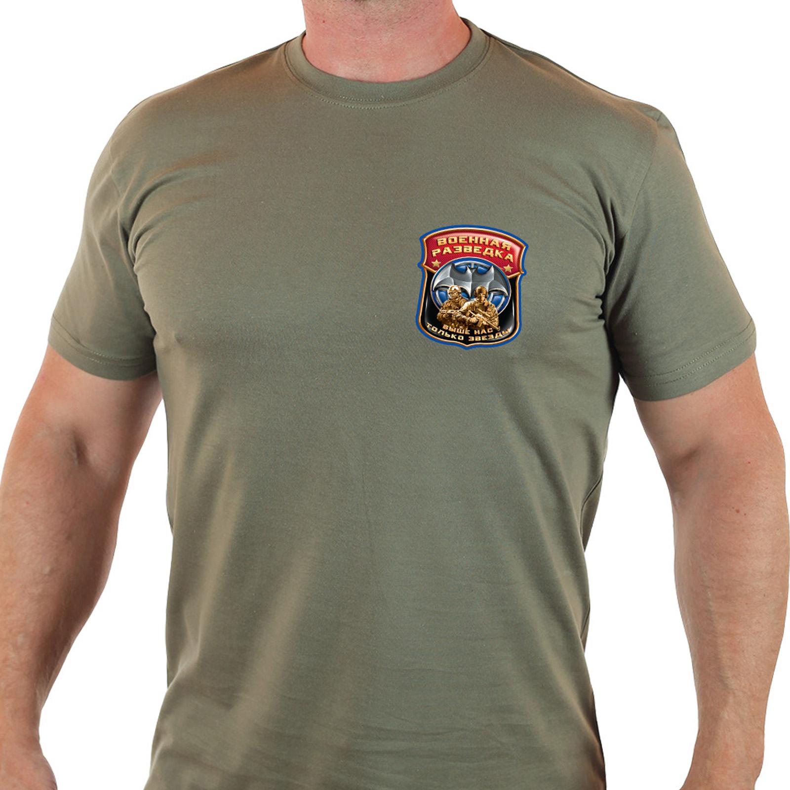 Строгая армейская футболка Военная разведка 100 лет