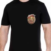 Строгая черная футболка с эмблемой ГСВГ