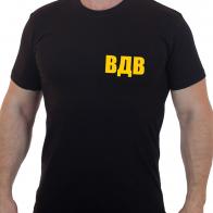Строгая черная футболка ВДВ