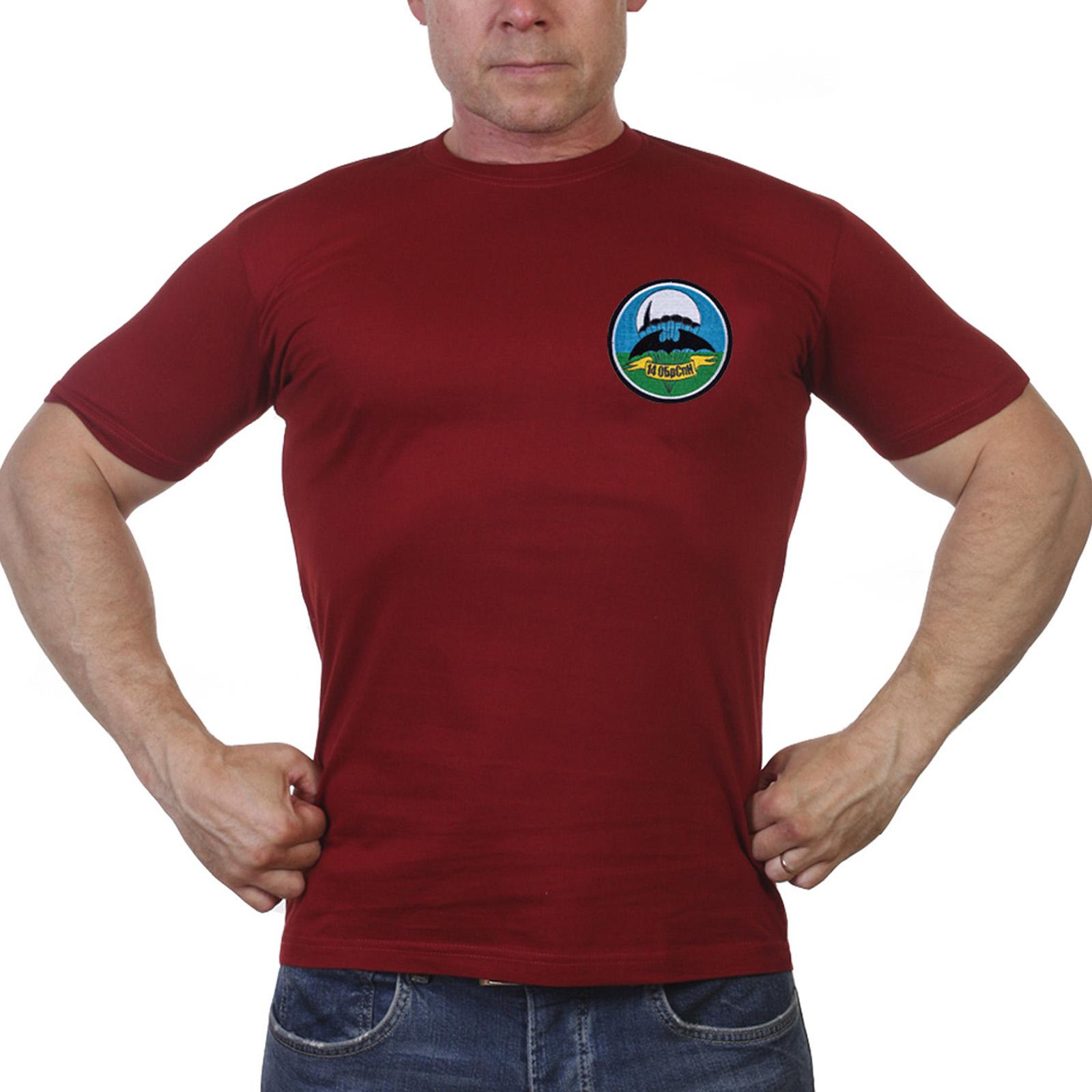 Строгая футболка с шевроном 14 ОБрСпН