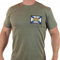 Строгая мужская футболка Черноморский Флот России