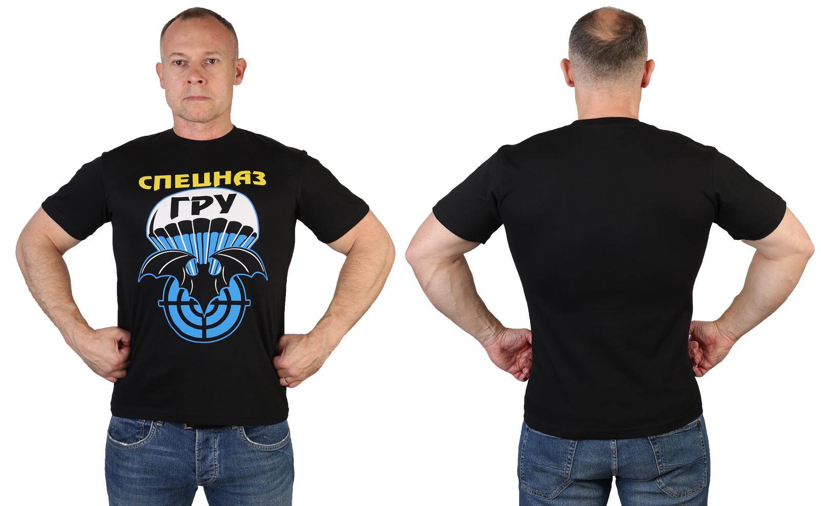 Строгая мужская футболка Спецназа ГРУ
