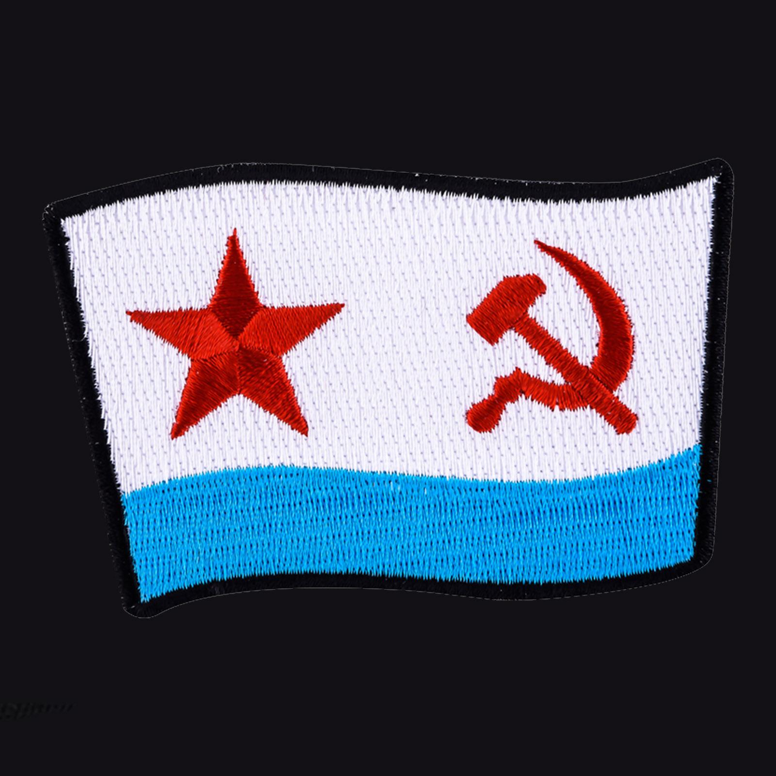 Строгая мужская футболка с вышивкой ВМФ СССР