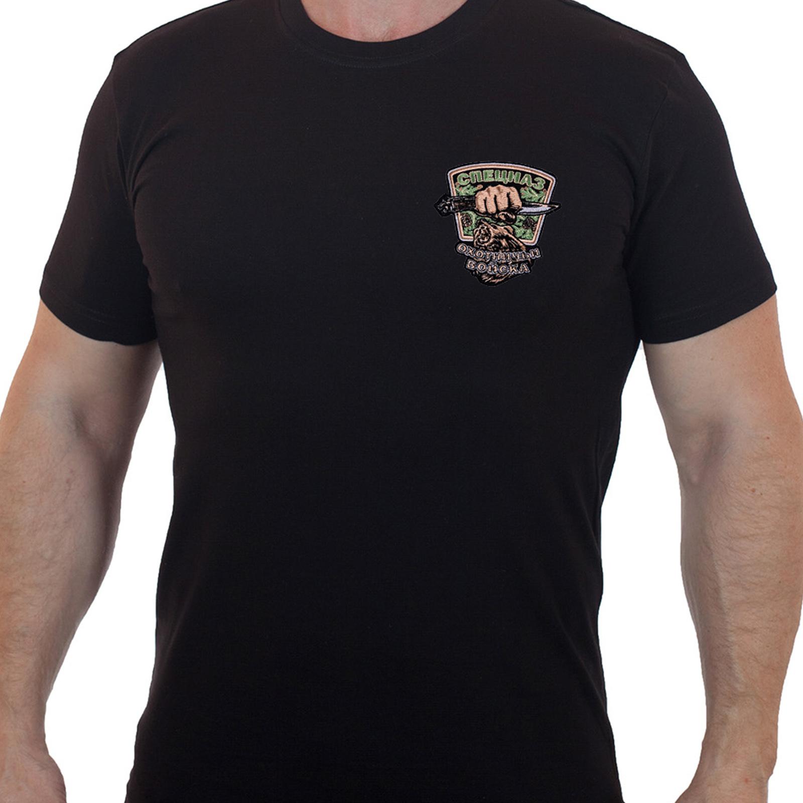Строгая хлопковая футболка для охотников
