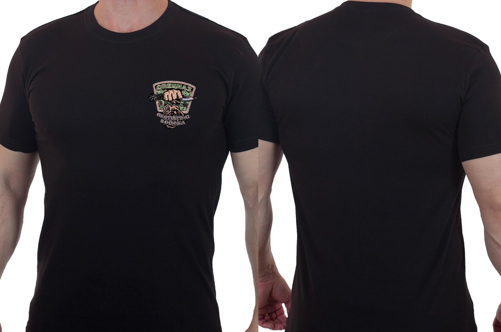 Строгая хлопковая футболка для охотников купить с доставкой