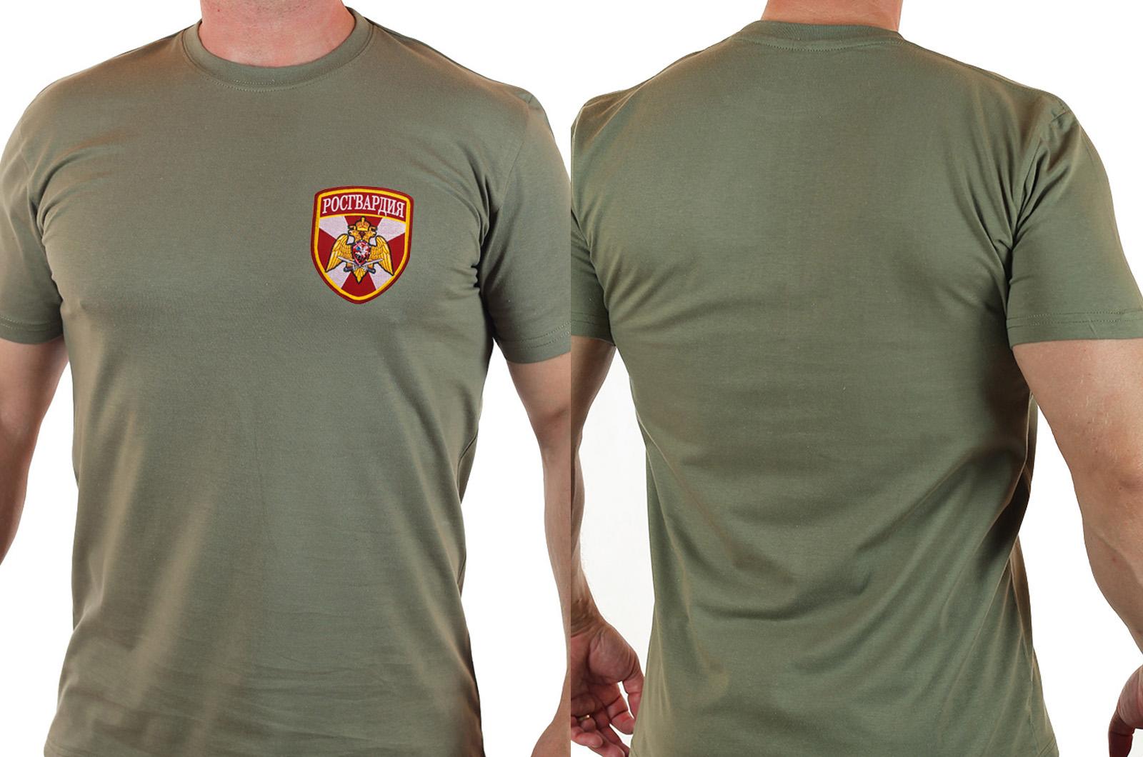 """Строгая мужская футболка """"Росгвардия"""" с удобной доставкой"""