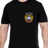 Строгая мужская футболка с нашивкой ФСО России