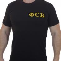 Строгая мужская футболка с вышивкой ФСБ