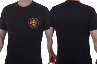 Строгая мужская футболка с вышивкой Морпехи 155 ОБрМП КТОФ - купить с доставкой