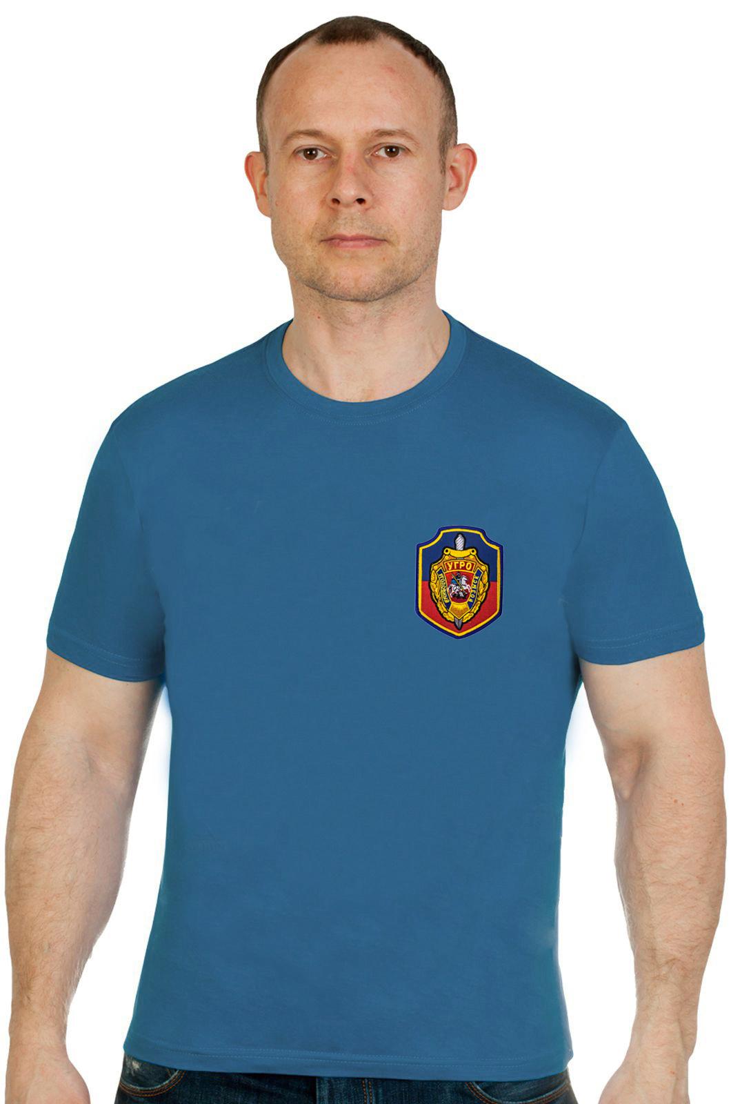 Купить строгую мужскую футболку с вышивкой Уголовный Розыск в подарок любимому