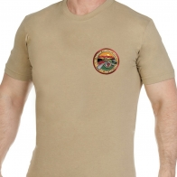 Строгая песочная футболка АФГАН