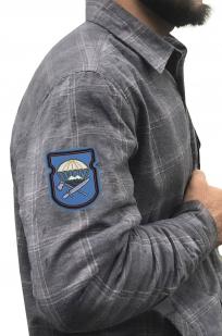 Строгая рубашка с вышитым шевроном 629-й ОИСБ 7-ой ДШД - купить в розницу
