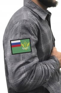 Строгая рубашка с вышитым шевроном ФССП - заказать в Военпро