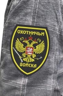 Строгая рубашка с вышитым шевроном Охотничьи Войска - заказать выгодно