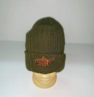 Строгая шапка цвета хаки