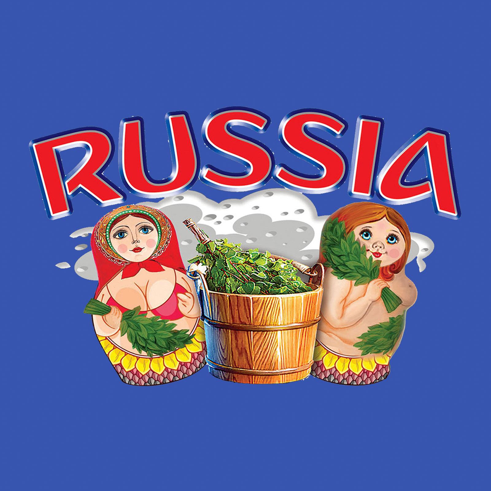 Купить строгую синюю бейсболку с термотрансфером Russia по лучшей цене