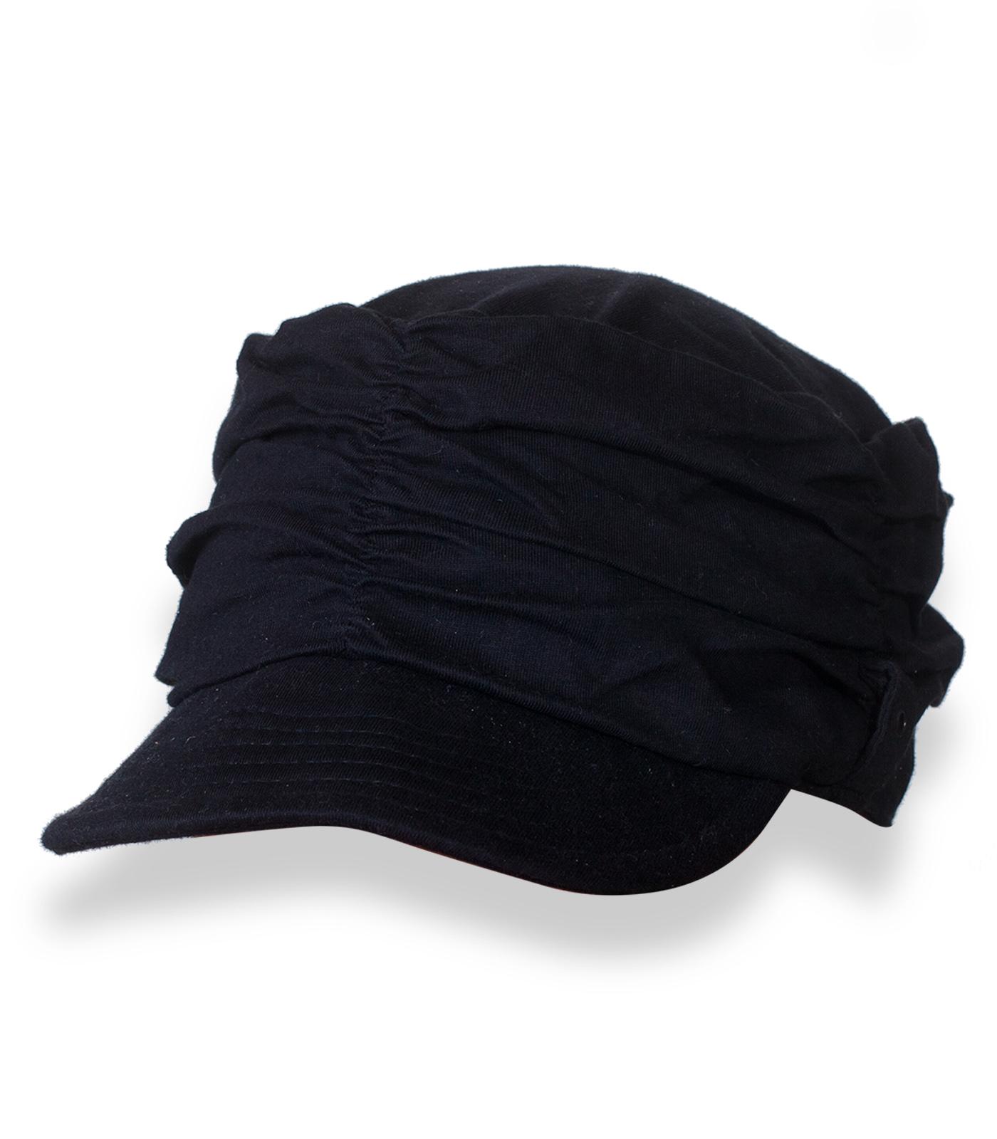 Строгая темная кепка
