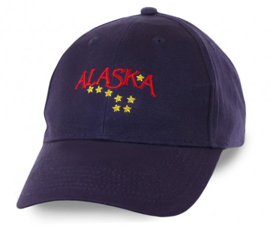 Строгая темно-синяя бейсболка Alaska с вышитыми звездами - безупречное качество