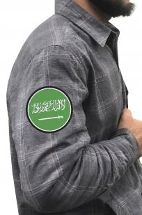 Строгая утепленная рубашка с нашивкой Саудовская Аравия - купит выгодно