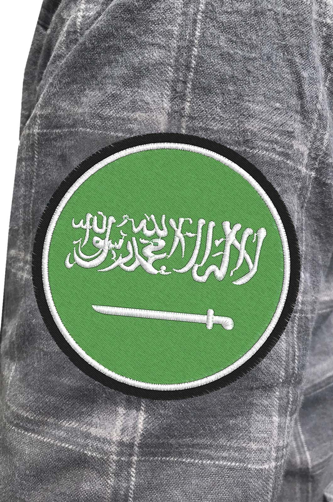 Строгая утепленная рубашка с нашивкой Саудовская Аравия - купить с доставкой