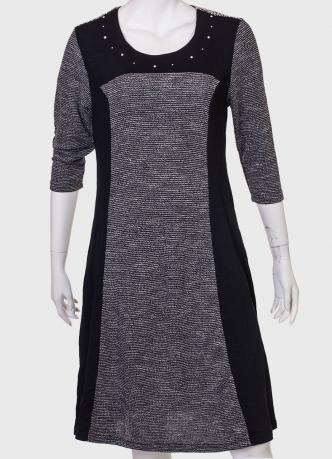 Купить строгое платье комбинированного пошива  от бренда Marie Claire