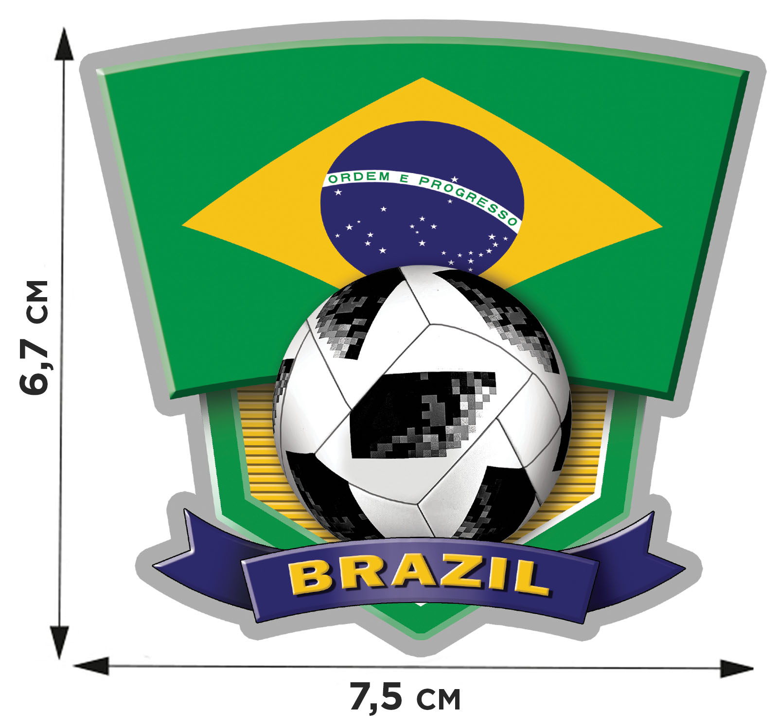 Термонаклейка фаната Бразилии – подходит для любых тканей