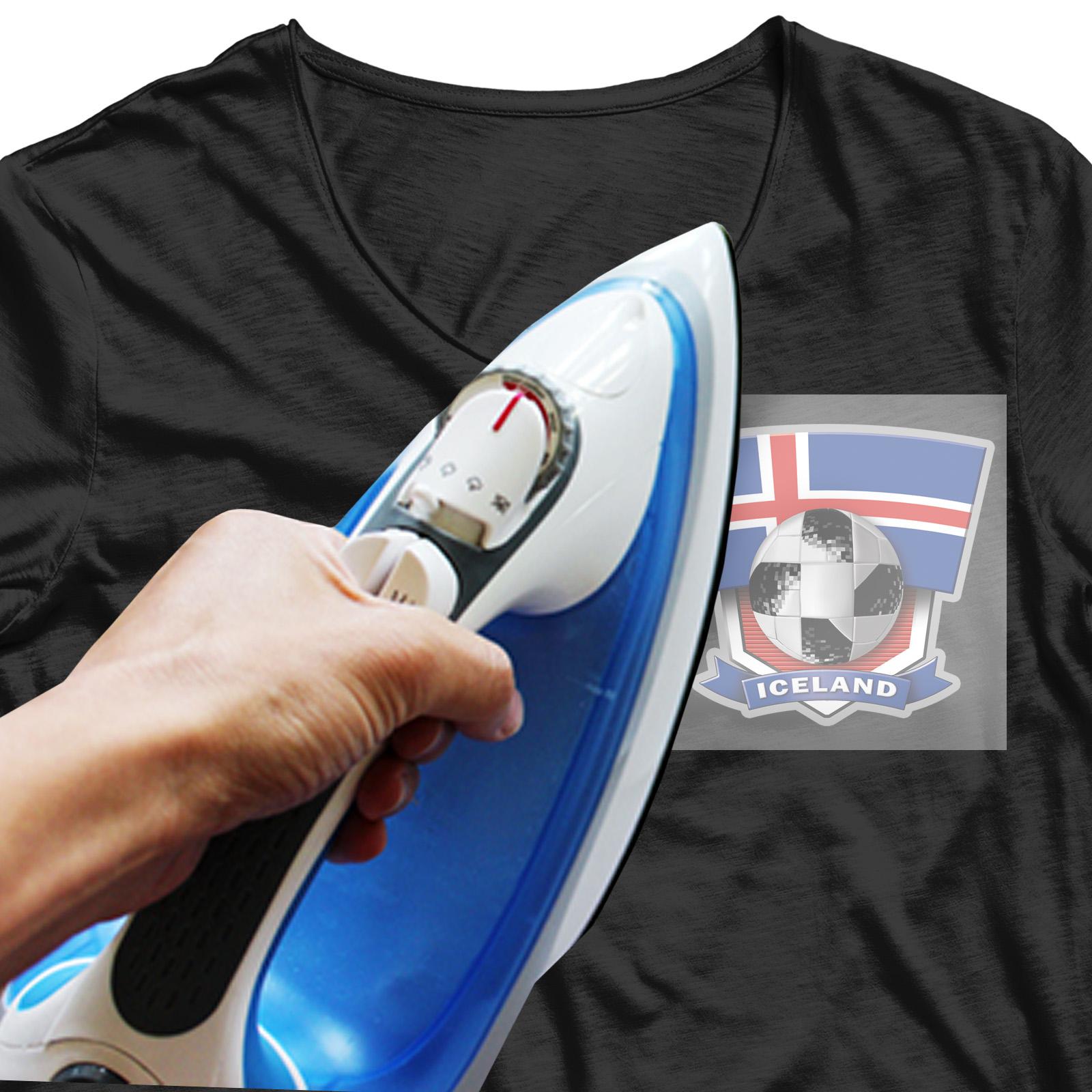 """Сублимация на футболку """"Сборная Исландии по футболу"""""""