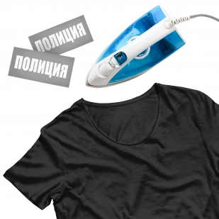 Сублимация на футболку «Полиция»