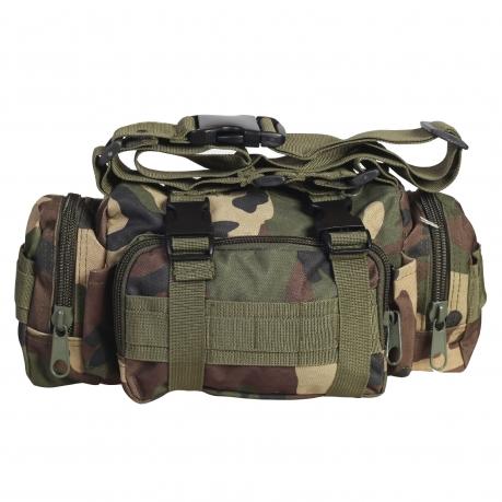 Мужская сумка на пояс с наплечным ремнём под камеру