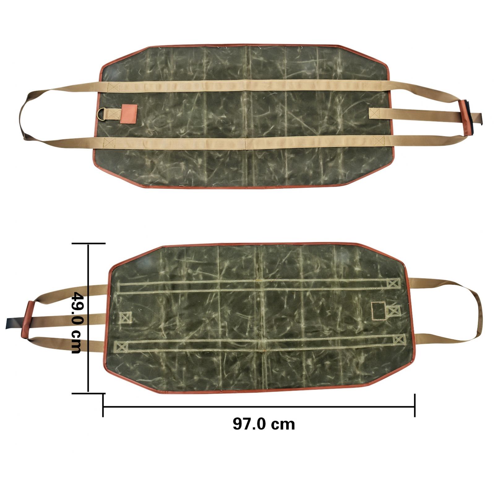 Сумка-переноска для дров из непромокаемой вощеной холщовой ткани