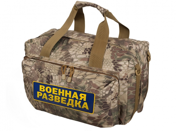 Сумка-рюкзак Военной разведки в ураганном камуфляже Kryptek