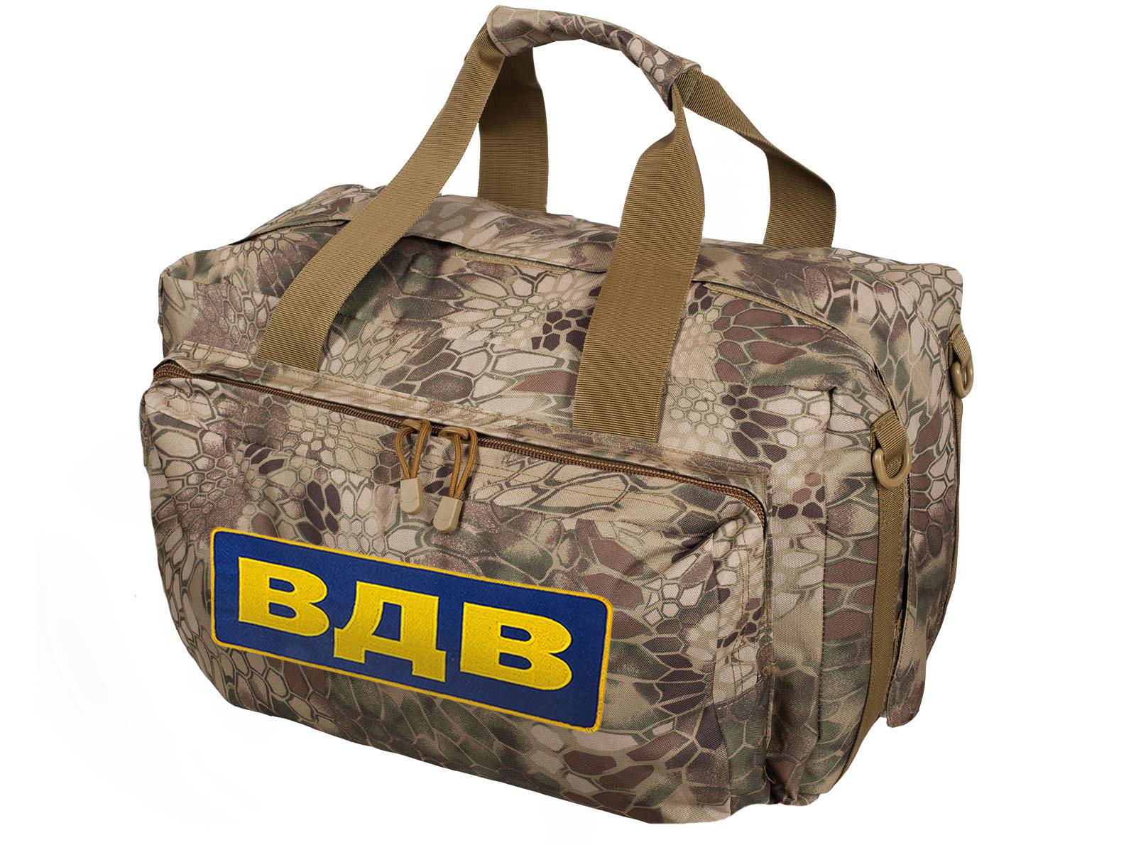 Мужская сумка баул рюкзак с шевроном ВДВ по хорошей скидке