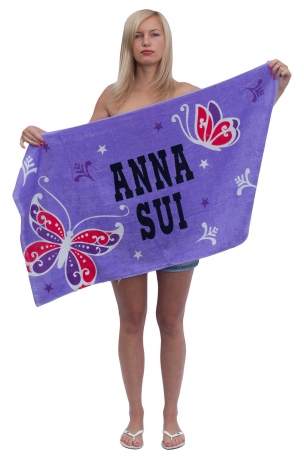 Женское дизайнерское супер полотенце Anna Sui.