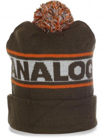 Суперстильная мужская шапка с помпоном от AnaLog