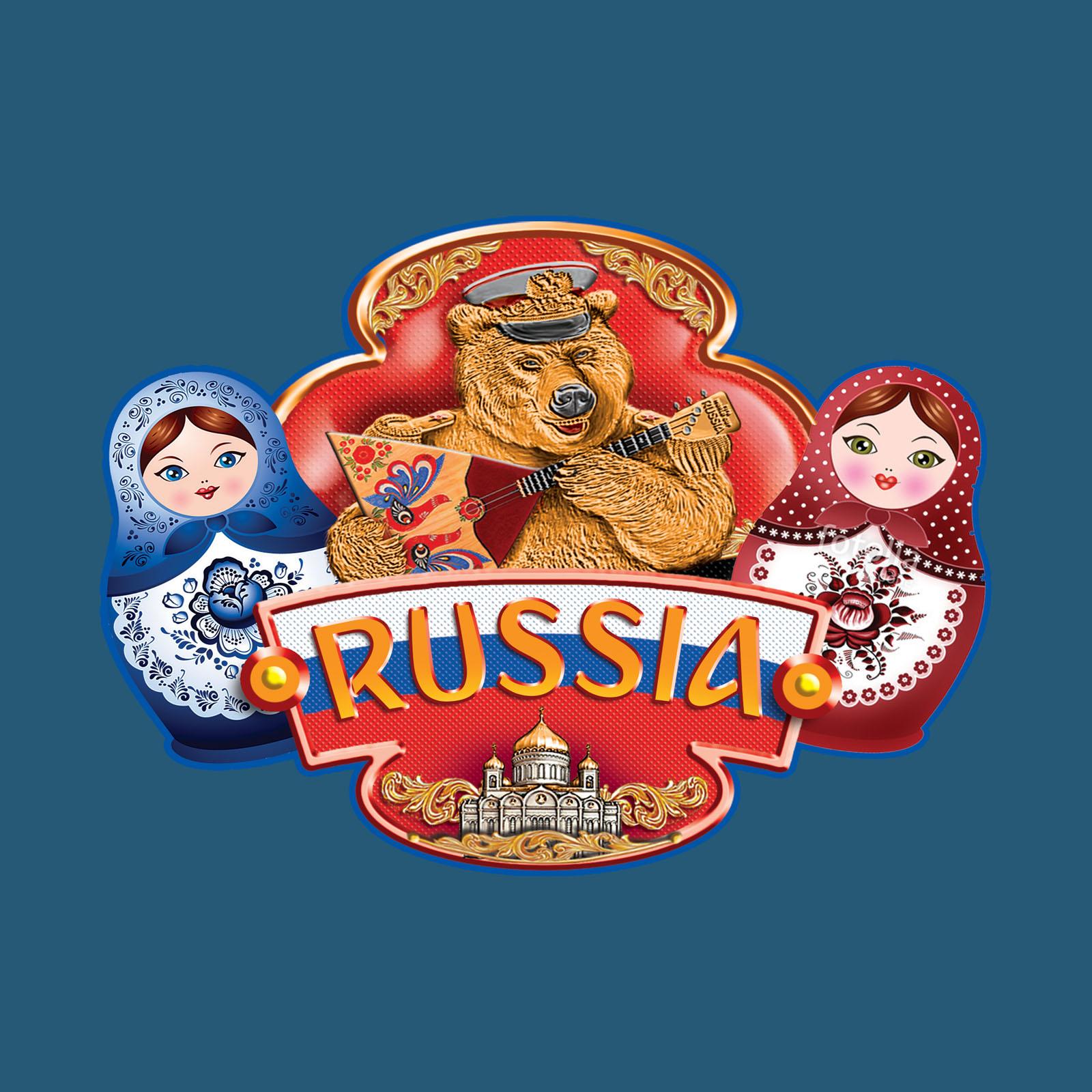 Сувенирная футболка RUSSIA