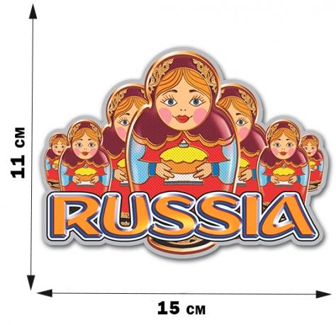 """Сувенирная наклейка """"Русские матрёшки"""""""